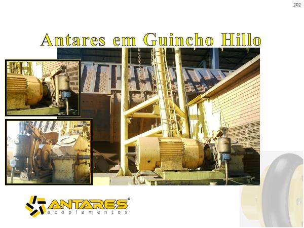 guincho hillo, amplamento utilizado no setor de sucroenergia, usando acoplamento antares