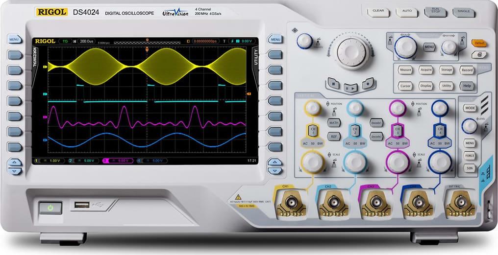 Osciloscópio para analisar e evitar a vibração mecânica