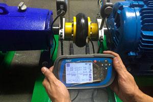 Procedimento de alinhamento a laser em acoplamento flexível Antares AT